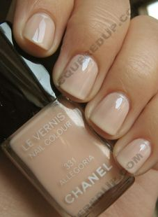 On a mad search for the perfect nude nail color. This is Chanel Allegoria.