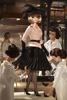 >>**Afternoon Suit Barbie. Gold Label. Release date: 2/8/2012.  PC:W3503. 4300.  (Have her)
