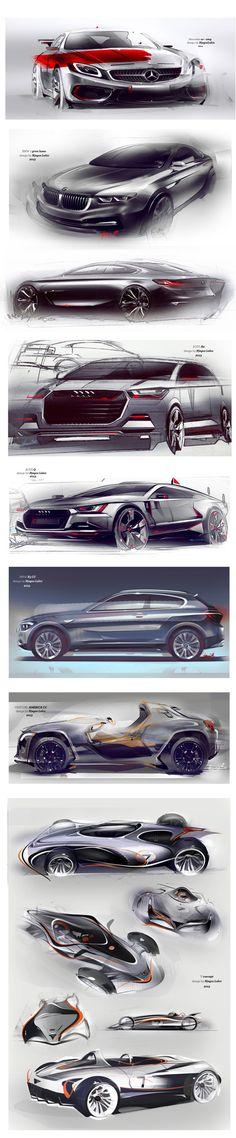 Design concept sketches