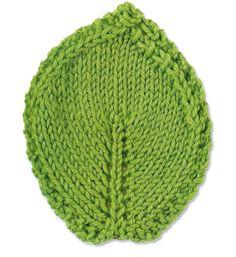 Knit a leaf (+tuto)
