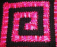 Linked Treble Crochet Pinwheel Square by Melissa Beth