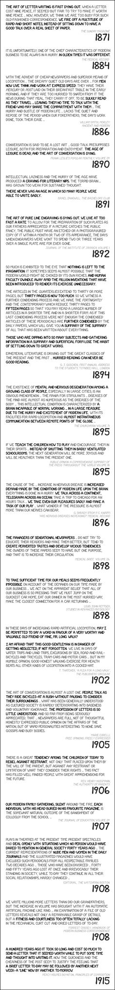 The Pace of Modern Life -xkcd.com funni random, life quotes, histori, food for thought, pace, modern life, comics, kid, xkcd comic