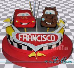 Cars Lightning McQueen Mater cake