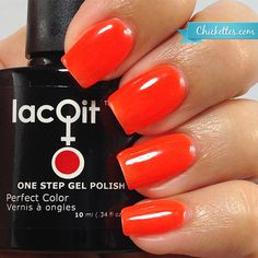 LacQit one step gel nail polish color Poolside Popsicle from the new summer poolside/beach collection. Www.lacqit.com  Gel nail kits and colors