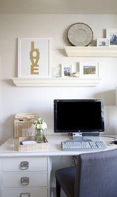 preppy home office // Michaela Noelle Designs #love...like gold love sign