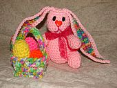 Easter Trio - Free Crochet Pattern includes instructions for bunny, basket and Easter eggs.