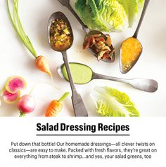 A list of homemade salad dressing recipes.