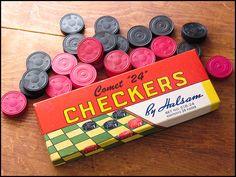 Vintage Checkers Set