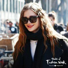 All-black everything, square sunglasses included. At the Milan Fashion Week #ShadesOfFashionWeek #MLF #sunglasses