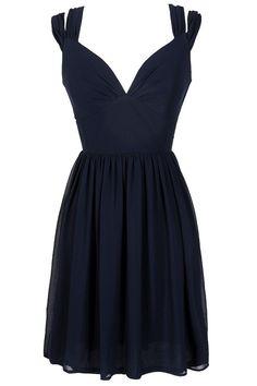 Navy Strappy Dress