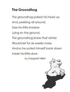Groundhog Day Poem Freebie
