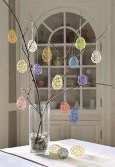 Easter Crafts | Make String Eggs