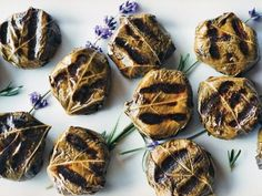 Goat-Cheese-Stuffed Grape Leaves