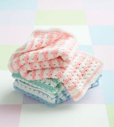 Simply Stripes Baby Blanket | AllFreeCrochet.com