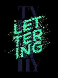 Typography VS Lettering Poster on Behance