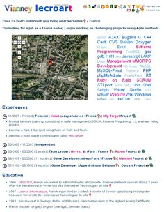 flickr style resume