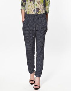 TROUSERS WITH TIE PRINT - Trousers - Woman - ZARA