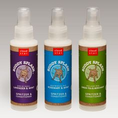 all natural pet products: buddy splash dog spritzer.