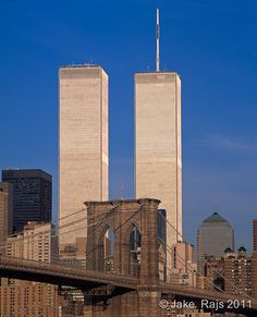 Brooklyn Bridge and Twin Towers