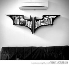 Batman logo bookcase | This could be my new DIY project.