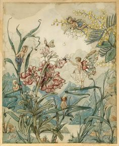 Harold Gaze, Fairies and insects in a fantasy landscape