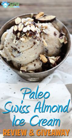 Paleo Swiss Almond Dairy Free Ice Cream Recipe with Review and Giveaway | http://www.grassfedgirl.com/paleo-swiss-almond-dairy-free-ice-cream-recipe-with-review-and-giveaway/