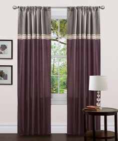 Take a look at this Purple Terra Curtain Panel - Set of Two by Lush Décor on #zulily today!