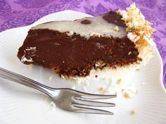 Chocolate Orange Mousse Pie with a Toasted Coconut Crust. Directions included to make with Carob. (Sugar/Gluten/Grain/Dairy/Soy/Corn/Egg Free).