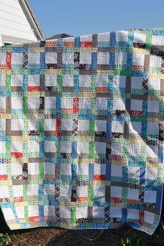 great scrappy quilt