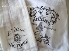 tea towels, artist paper, transfer artist, kitchen towels, tap