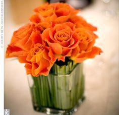 Simple orange centerpiece