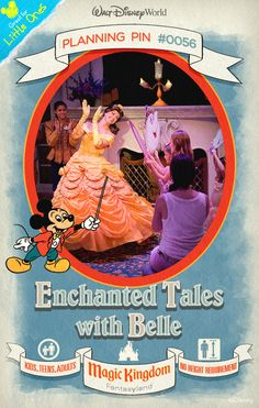 Walt Disney World Planning Pins: Enjoy an interactive story adventure featuring Belle, Lumiere and you!