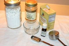 recipe for homemade DIY deodorant natural