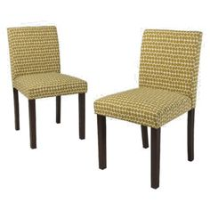 Uptown Parson Dining Chair - Apple Green - Set of 2