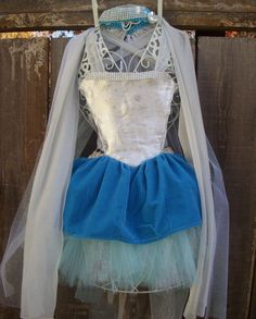 "Elsa costume inspired by Frozen movie. Snow Queen. by princessofia. I LOVE the ""inspired by"" -- so many good ideas!"