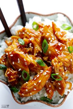Slow Cooker Teriyaki Chicken | gimmesomeoven.com | #crockpot_chicken #chicken_recipes @Ali Velez Ebright (Gimme Some Oven)