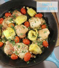 Easy 5 Ingredients Dinner: Tomato & Artichoke Chicken (Paleo, Primal, Gluten-Free)
