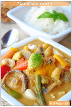 US Masala: Thai Massaman Curry (Vegetarian)