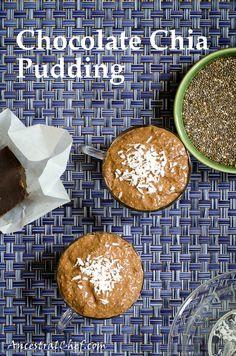 Paleo chocolate Chia pudding  http://ancestralchef.com/chocolate-chia-pudding  #paleo #primal #food #chia #recipes #yum #recipe #glutenfree #gf #chocolate #dessert