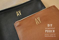 Monogram your wallet with some acrylic paint. | 23 DIY Ways To Fake It Until You MakeIt