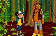 brainpop jr. Rainforest habitats Information & Activities