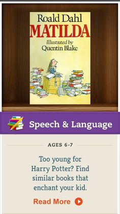 If your kids are interested in Harry Potter but not ready to read the series, try these similar fantasy books that can satisfy them in the meantime. Click for the list. #SpeechandLanguage