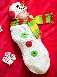 Baby Crochet Cocoon Snow Baby Costume - Party City