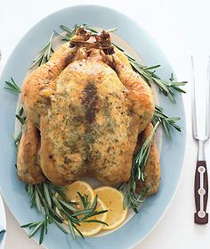 Garlic-Rosemary Roast Chicken from Epicurious.com #myplate #protein