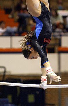 Auburn Gymnastics gymnast on uneven bars #KyFun moved from Gymnastics: Collegiate board http://www.pinterest.com/kythoni/gymnastics-collegiate/ m.2/42