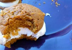 Pumpkin and cream cheese whoopie pies. I want that