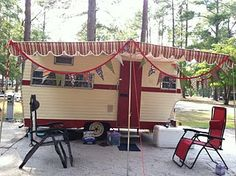 Our 1970 Vintage Shasta SCS travel trailer that we recently renovated. #vintage, #travel, #shasta, #bunting