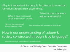 Many, Many Examples Of Essential Questions