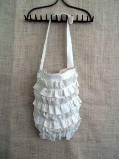 Boho Ruffle Messenger Cross Body Bag
