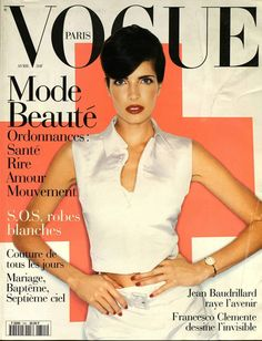 April 1995: Stephanie Seymours first cover for Vogue Paris